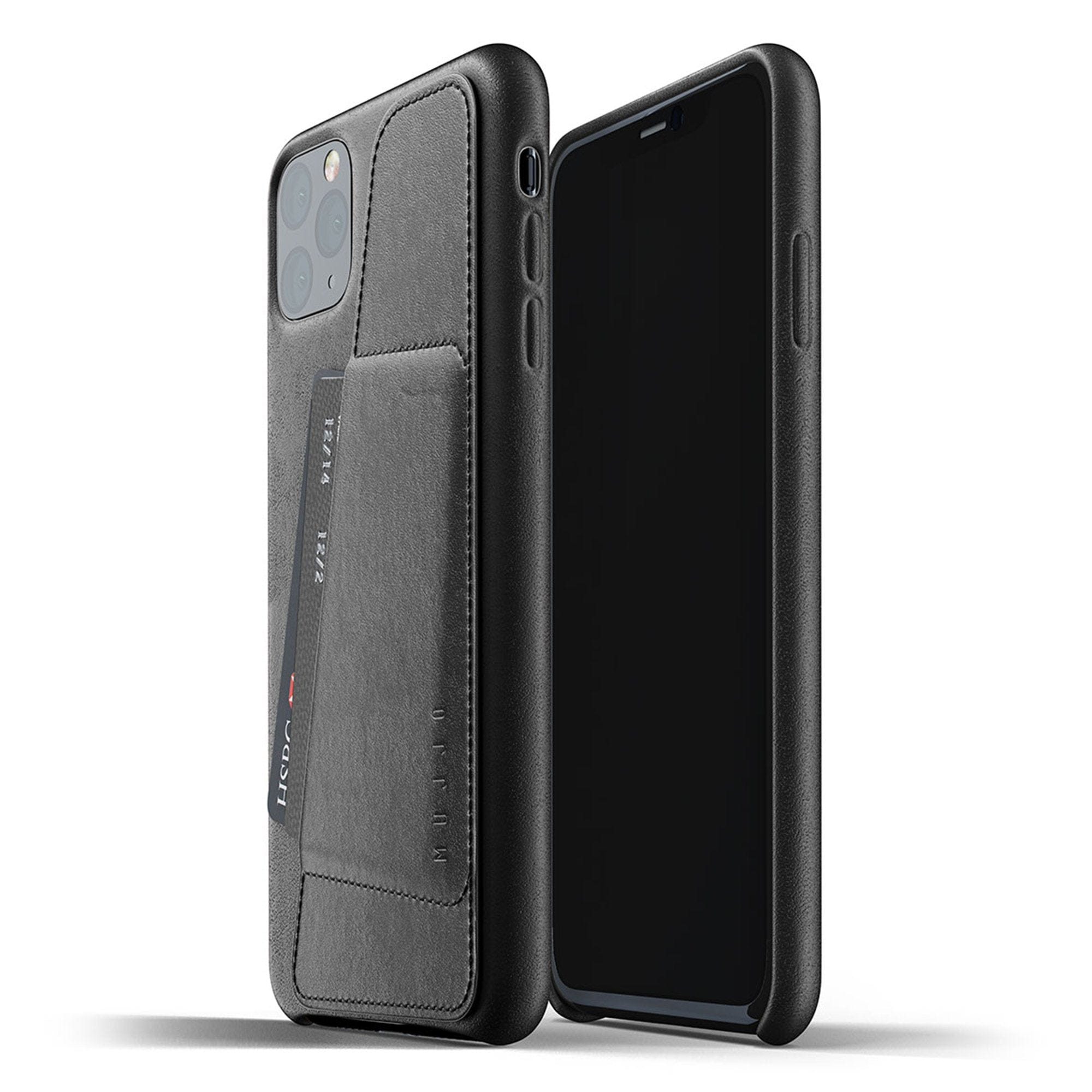 Mujjo Full Leather Wallet case for iPhone 11 Pro Max in Black