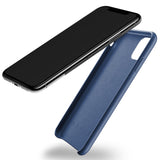 Mujjo Full Leather Wallet case for iPhone 11 Pro Max in Monaco Blue