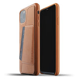 Mujjo Full Leather Wallet case for iPhone 11 Pro Max in Tan