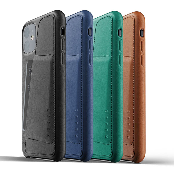 Mujjo Full Leather Wallet case for iPhone 11 in 4 colors