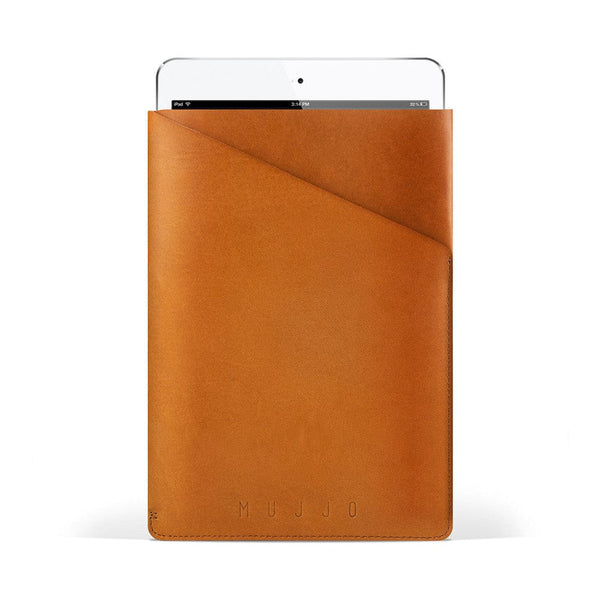 Mujjo Slim Fit Leather Sleeve for Apple iPad Air 1/2 & Mini 1/2/3/4 - 2