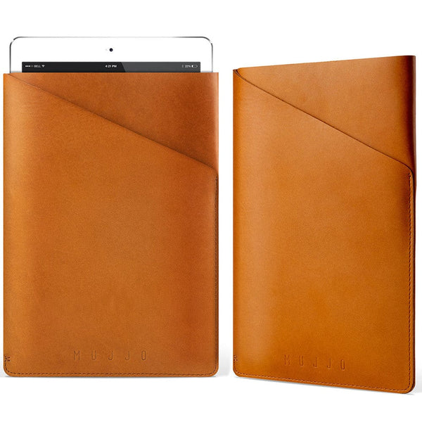 Mujjo Slim Fit Leather Sleeve for Apple iPad Air 1/2 & Mini 1/2/3/4 - 5