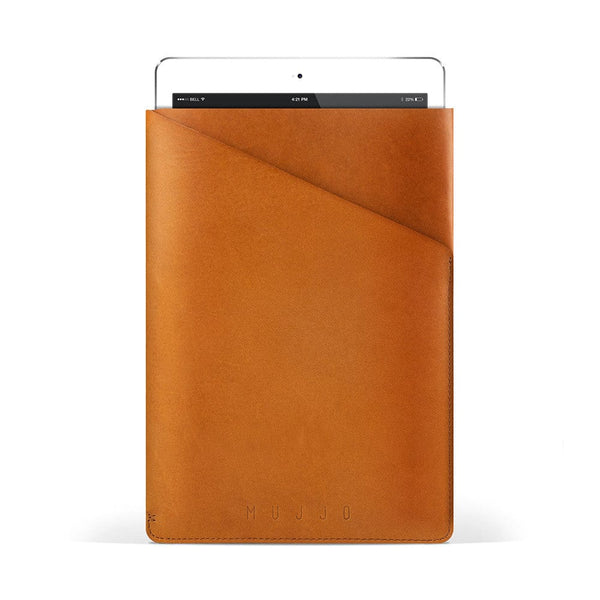 Mujjo Slim Fit Leather Sleeve for Apple iPad Air 1/2 & Mini 1/2/3/4 - 13