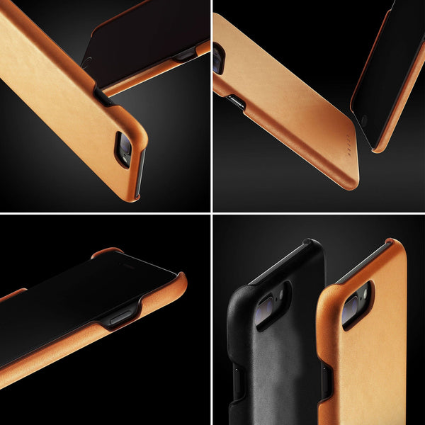 Mujjo Moulded Edge Leather case for Apple iPhone 8 Plus / iPhone 7 Plus
