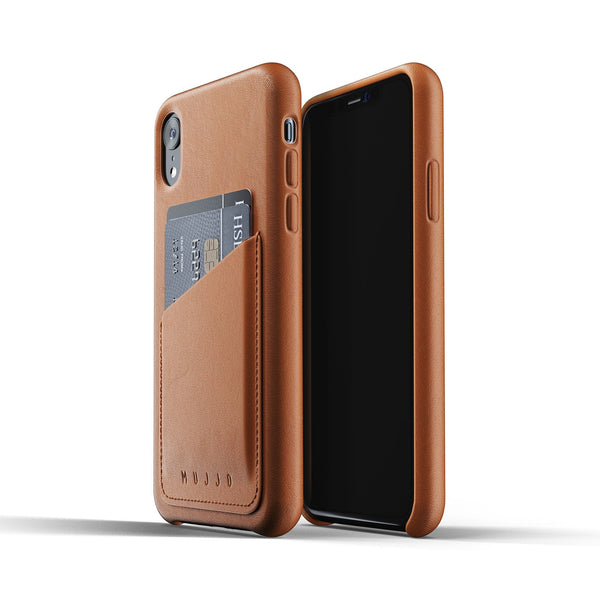 Mujjo Full Leather Wallet case for iPhone XR