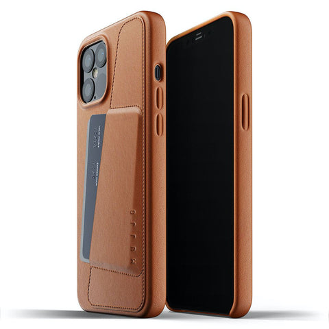 Mujjo Full Leather Wallet case for Apple iPhone 12 Pro Max