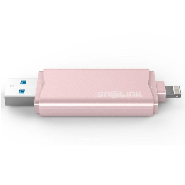 Snailink EZ-UData 16GB Portable Backup USB 3.0 Flash Drive for Apple iPads and iPhones with Lightning Connector