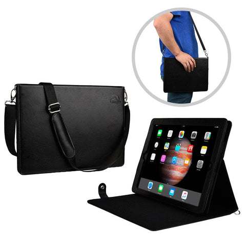 Sherpa Carry Magnetic Folio Case with Shoulder Strap for all Apple iPads - 1