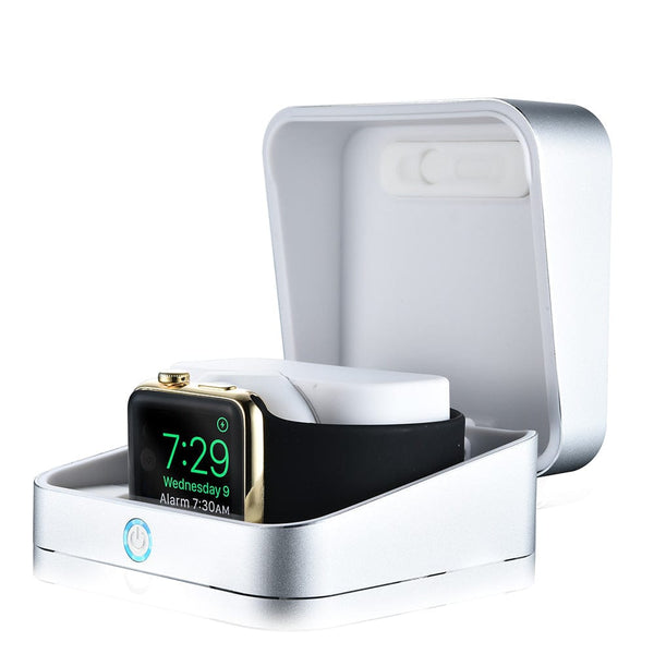 Sumato WatchBox Smart Charging Case with Power Bank for Apple Watch