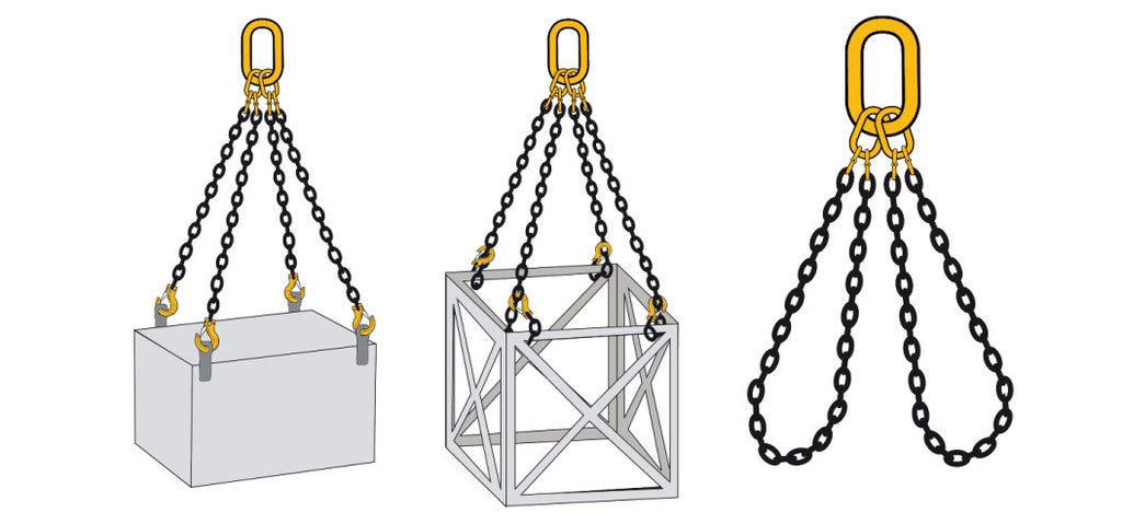 Three Leg Chain Slings Grade 80 - EN 818-4 - Lifting Slings