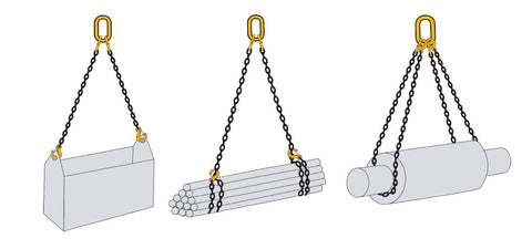 Two Leg Lifting Chain Slings Grade 80 - EN 818-4 - Lifting Slings