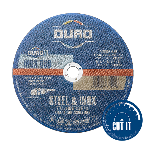 "Metal Cutting Discs - 25 Pack- 115mm (4½"") - 1.0mm - Flat Cut - Steel & Inox"