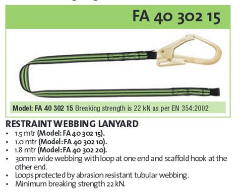 Kratos Fall Restraint & Work Positioning Lanyards
