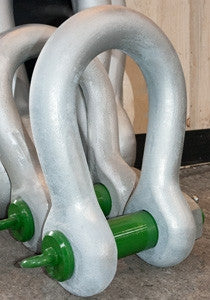 Shackles - Green Pin Standard Alloy Bow Shackles Screw Pin - Lifting Slings