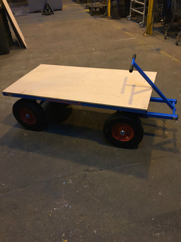 Heavy duty Site Trolley 1 tonne (4 Wheel Bogie) - Solid Wheels - Lifting Slings
