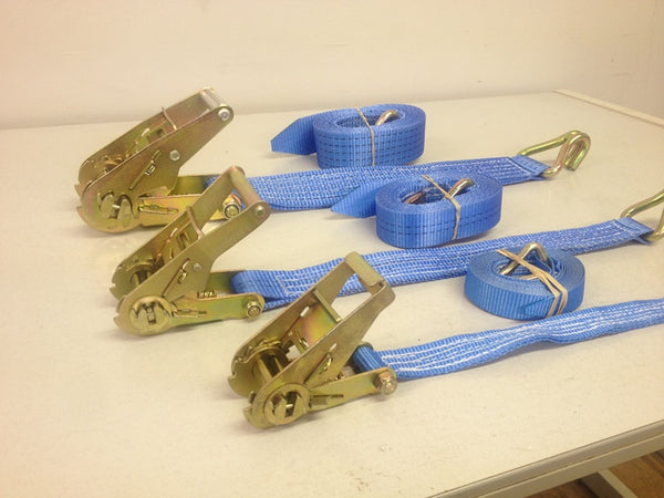 Heavy Duty Ratchet Straps / Cargo Tie Down 1000KG - 5000KG (Sold In Pairs)