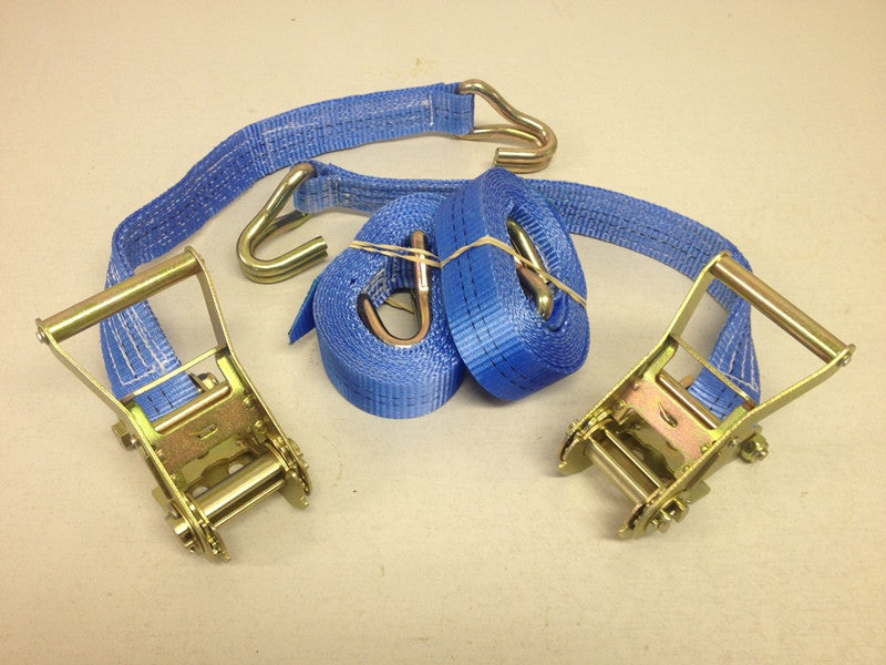Heavy Duty Ratchet Straps / Cargo Tie Down 1000KG - 5000KG (Sold In Pairs) - Lifting Slings
