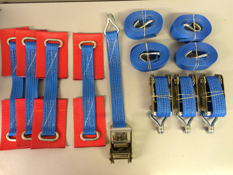 4 x Car Trailer Transporter Recovery Straps - Lifting Slings