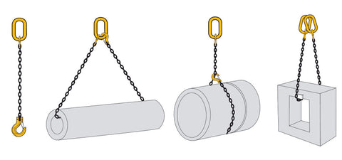 Single Leg Lifting Chain Slings Grade 80 - Snatch chains EN 818-4 - Lifting Slings