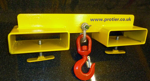 Adjustable Fork Mounted Lifting Hook Attachment 1000KG to 5000KG - Lifting Slings