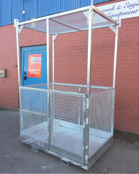 Galvanised Crane & Fork Lift Truck Mounted Man Riding Baskets