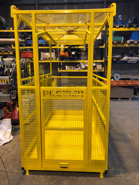 Man Riding Basket / Stretcher Recovery Crane Cage