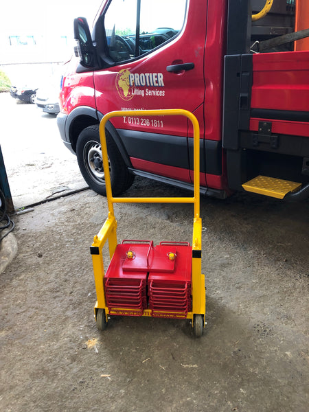 Mobile test weight trolley complete with weights