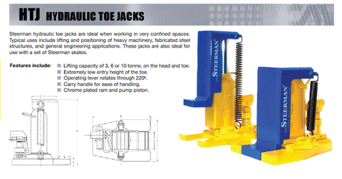 Steerman Hydraulic Toe Jacks