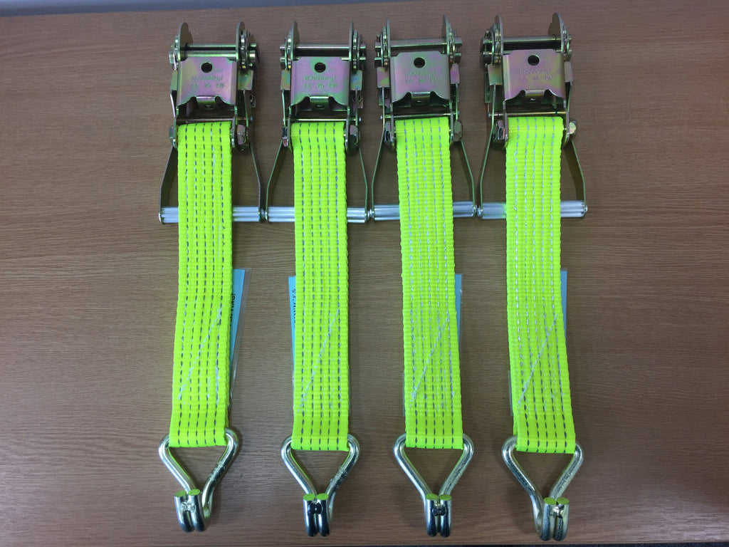 4 x Hi Vis Recovery Replacement Ratchet Handles 5ton - Lifting Slings