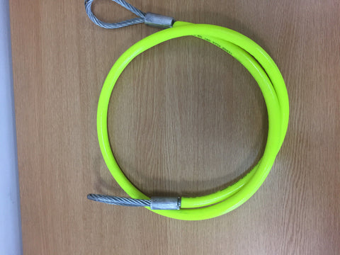 Steel Wire Axle Strop With Hi Vis PVC Sleeve 8mm x 1.5mt - Lifting Slings