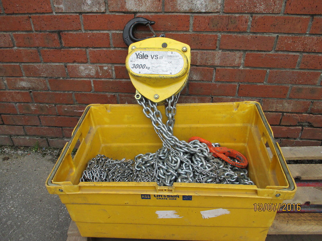 New Yale VS111 Manual Chain Hoist 3000kg, 3m Hol - Lifting Slings