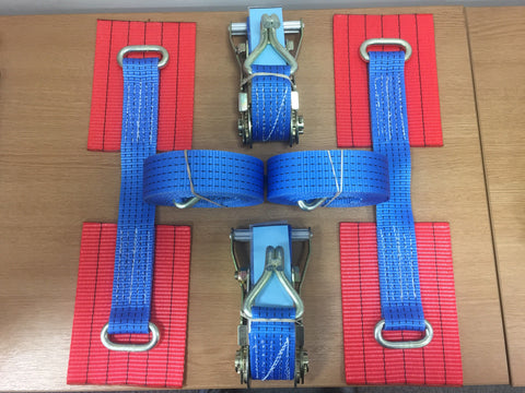 2 x Car Trailer Transporter Recovery Straps-Truck-Heavy Duty-Alloy Wheel - Lifting Slings