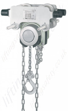Yale Corrosion Resistant Integral Push Trolley Hoists with Stainless Chains 500kg-1250kg