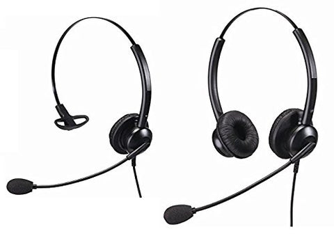 Noise Cancelling Headset With 2.5mm and RJ11 Connections Suitable For Home or Office and Call Centres