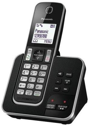 Panasonic KX-TGD320 DECT Digital Cordless Home Telephone Black | Answer Machine