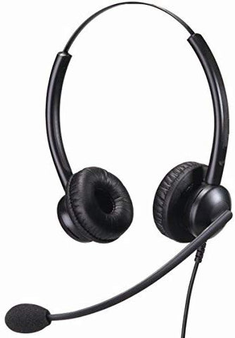 HSD Binaural Noise Cancelling Premium Office and Call Centre Headset USB Connection