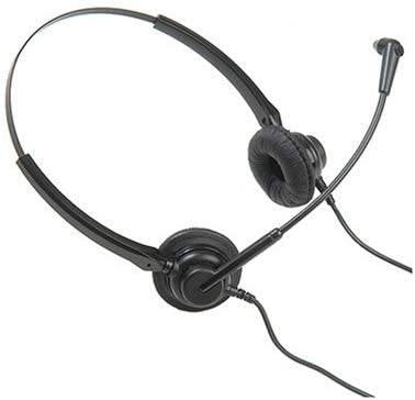 Agent 200 Binaural Noise Cancelling Headset with Agent U10P Bottom Lead