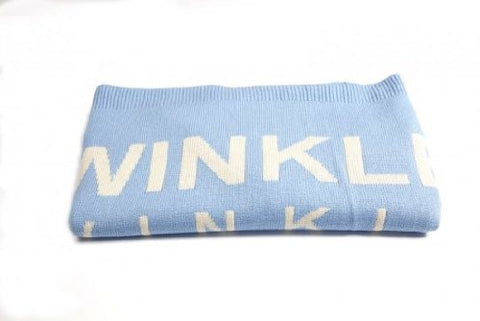 Twinkle Twinkle Little Star Baby Blanket Blue