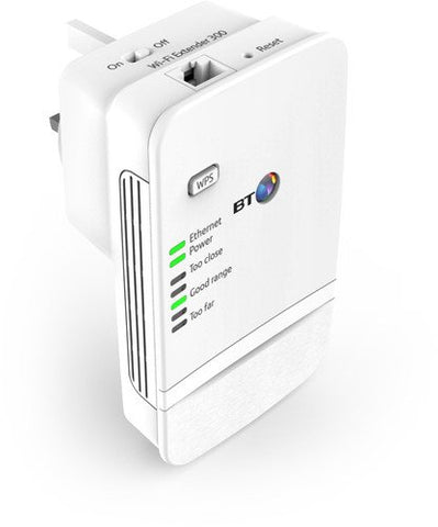BT Wi-Fi 300 Extender Kit (Booster), White