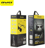 aWei A845BL Earphones In-Ear Earbuds Headsets Stereo Wireless Bluetooth Sports Sweatproof Headphones Black