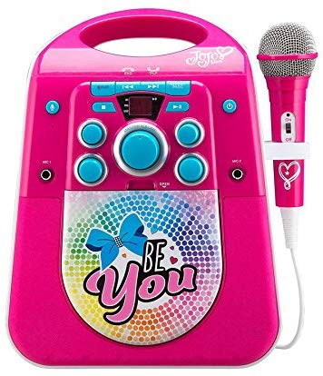 EKids JJ-672 JoJo Siwa Karaoke Machine with TV Connect Feature and Bluetooth