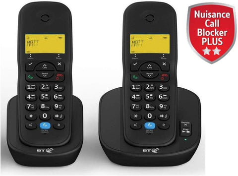 BT 3440 Twin Digital Cordless Telephones with Answerphone and Nuisance Call Blocking