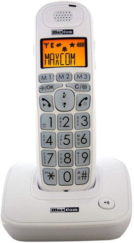 AmazonUkkitchen Maxcom MC6800 UK Fixed line Digital Cordless Amplified DECT Telephone with Backlit LCD Display -