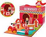 Jouéco – Fire Station Fireman's 80063, 13 Pieces