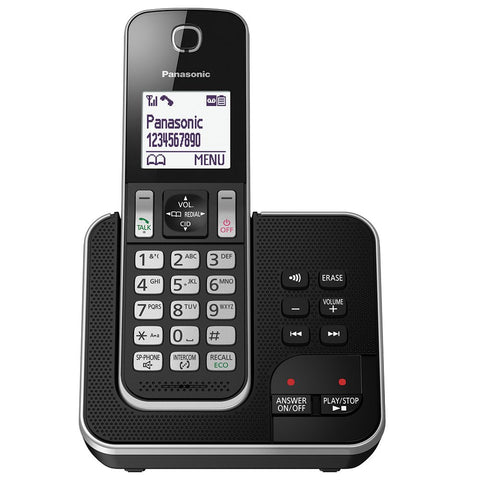 Panasonic KX-TGD320EB Cordless Home Phone with Nuisance Call Blocker and Digital Answering Machine - Pack of 1