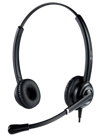 HSD Binaural 612 Noise Cancelling Office and Call Centre Headset USB Connection