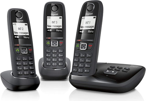 Gigaset AS405A Cordless Phone with Answering Machine (Pack of 3)