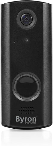 Byron WiFi Rechargeable Video Doorbell, Black