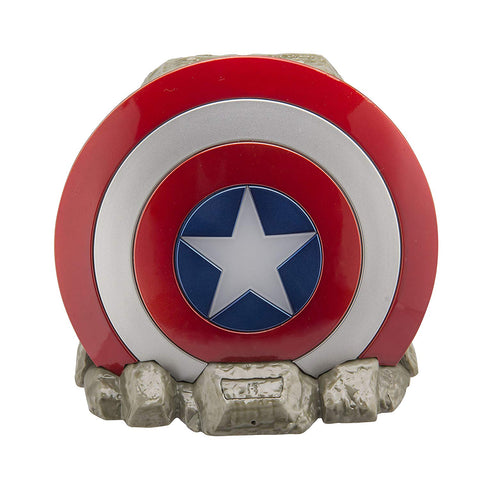 Captain america Bluetooth Speaker Light Up Shield with Speakerphone function compatible iPhone, Samsung, Tablets and all other bluetooth devices