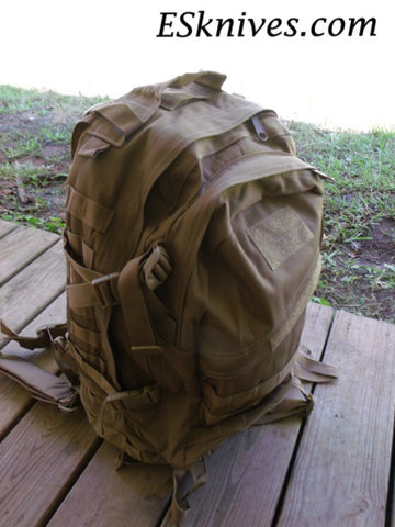Survival prep canvas 3 day pack